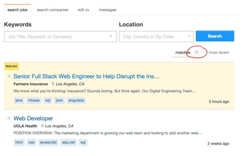 search jobs on stack overflow