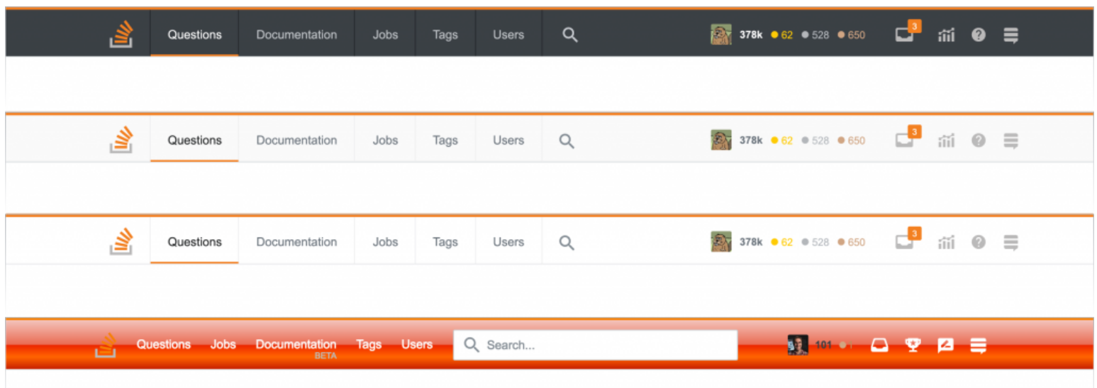 How Stack Overflow Redesigned the Top Navigation - Stack