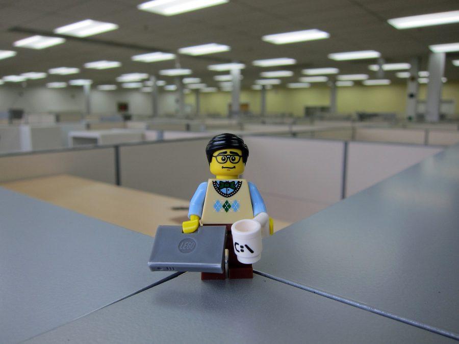 Фигурка LEGO рабочего