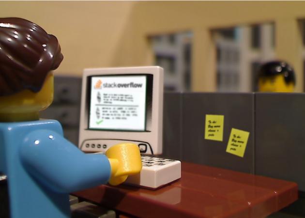 woman lego computer