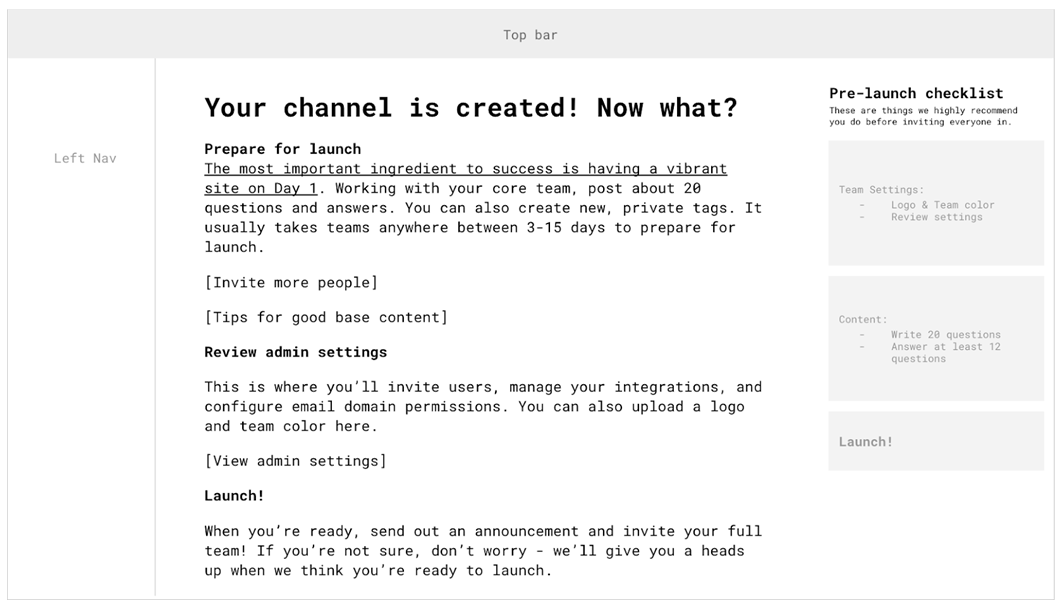 your channel is created