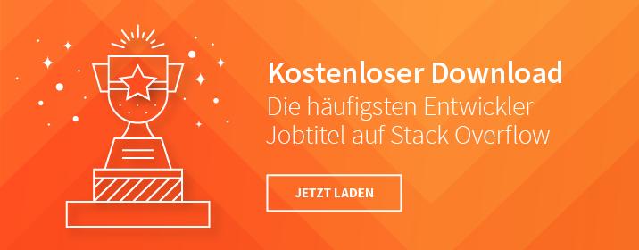 Die häufigsten Jobtitel auf Stack Overflow