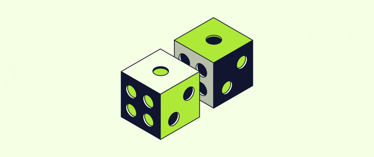 pair of light green dice