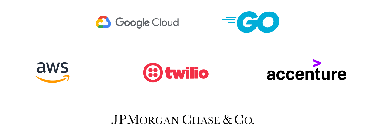 AWS, JP Morgan Chase, and Accenture logos